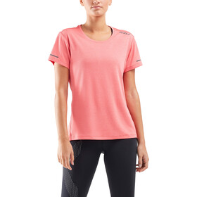 2XU XVENT G2 Run SS Shirt Women, pink lift/silver reflective